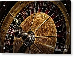 Acrylic Print featuring the photograph A Virginia City Roulette Wheel by Brad Allen Fine Art