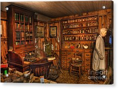 A Visit To The Doctor's Office - Old Time Physician Office - Doctors - Pharmacists - Opticians Acrylic Print by Lee Dos Santos