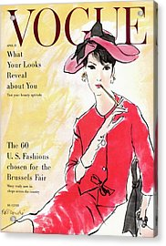A Vogue Cover Illustration Of Isabella Albonico Acrylic Print by Rene R. Bouche
