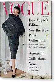 A Vogue Cover Of A Model Wearing A Dior Suit Acrylic Print