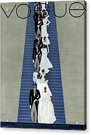 A Vogue Cover Of A Wedding Party Acrylic Print