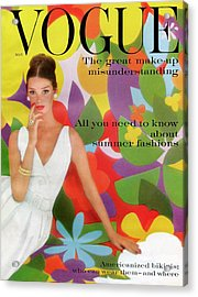 A Vogue Cover Of Dolores Hawkins With A Floral Acrylic Print