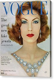A Vogue Cover Of Mary Mclaughlin Wearing Miriam Acrylic Print