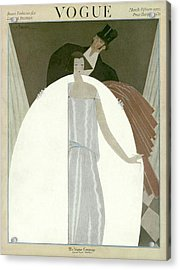 A Vogue Magazine Cover Of A Wealthy Man And Woman Acrylic Print