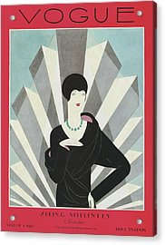 A Vogue Magazine Cover Of A Wealthy Woman Acrylic Print