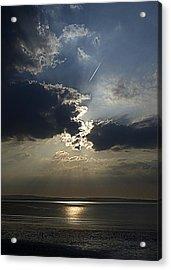 A Walk Along The Beach Acrylic Print by Tony Reddington