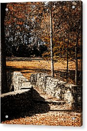 A Walk Along The Old Stone Path Acrylic Print