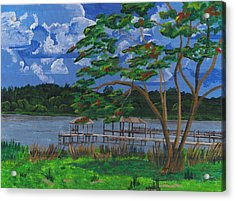 A Walk By Lake Clay Acrylic Print