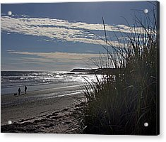 A Walk By The Sea Acrylic Print by George Cousins