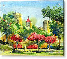A Walk In City Park Acrylic Print by Terry Banderas