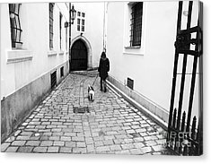 A Walk In Prague Acrylic Print by John Rizzuto
