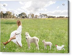 A Walk In The Country Acrylic Print by Linda Lees