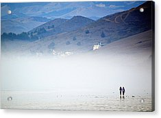 A Walk In The Evening Fog Acrylic Print