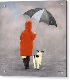A Walk In The Rain 2 Acrylic Print by Marlene Watson