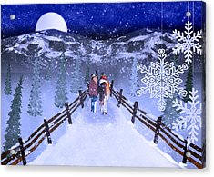 A Walk In The Snow 2 Acrylic Print