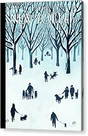 A Walk In The Snow Acrylic Print