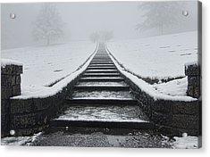 A Walk Into The Fog Acrylic Print by Don Schwartz