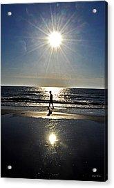 A Walk On The Beach Acrylic Print by George Bostian