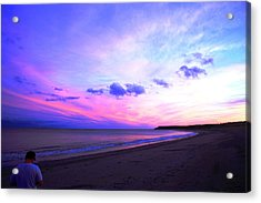 Acrylic Print featuring the photograph A Walk On The Beach by Jason Lees