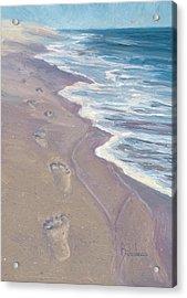 A Walk On The Beach Acrylic Print by Lucie Bilodeau