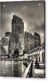 A Walk On The Embarcadero Waterfront Acrylic Print