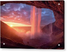 A Wall Of Flames Acrylic Print
