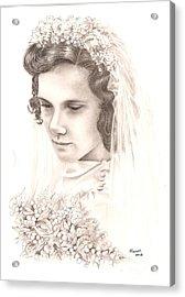 A War Bride Acrylic Print by Manon  Massari