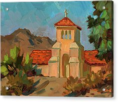 A Warm Day At Borrego Springs Lutheran Acrylic Print by Diane McClary