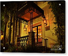 Acrylic Print featuring the photograph A Warm Summer Night In Charleston by Kathy Baccari