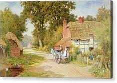 A Warwickshire Lane Acrylic Print
