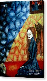A Watcher's Tears Acrylic Print by Coriander  Shea