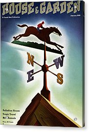 A Weathervane With A Racehorse Acrylic Print
