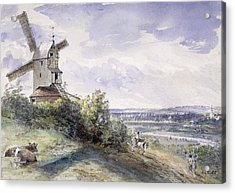 A Windmill At Stoke By Nayland Acrylic Print by John Constable