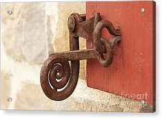 A Window Latch Acrylic Print