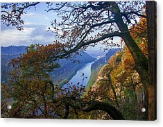 A Window To The Elbe In The Saxon Switzerland Acrylic Print