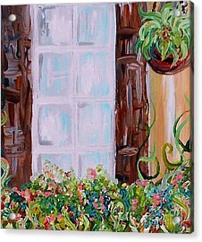 A Window View Acrylic Print by Eloise Schneider