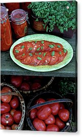 A Wine & Food Cover Of Tomatoes Acrylic Print