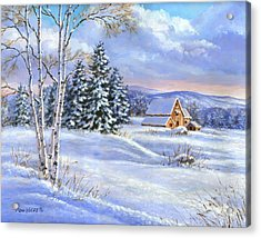 A Winter Afternoon Acrylic Print by Richard De Wolfe