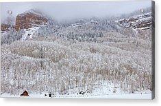 A Winter Cabin Acrylic Print by Darren  White
