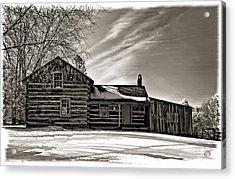 A Winter Dream Monchrome Acrylic Print by Steve Harrington