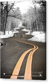 Acrylic Print featuring the photograph A Winter Drive Over A Winding Road by Mark David Zahn Photography