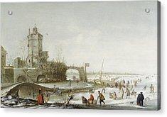 A Winter Landscape Acrylic Print