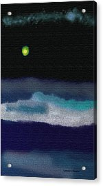 A Winter Night Acrylic Print by Lenore Senior