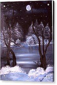 A Winter Night Acrylic Print