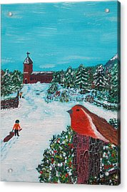 A Winter Scene Acrylic Print by Martin Blakeley