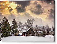 A Winter Sky - Oil Acrylic Print by Steve Harrington
