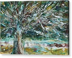 A Winter Tree Acrylic Print by Mary Wolf