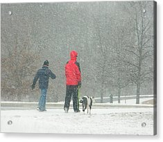 A Winter Walk In The Park - Silver Spring Md Acrylic Print by Emmy Marie Vickers