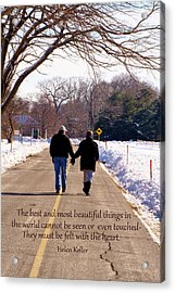 A Winter Walk/inspirational Acrylic Print