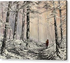 A Winter Walk Acrylic Print by Jean Walker